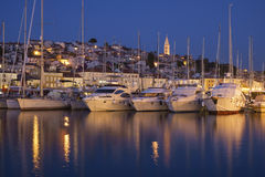 Mali Losinj port. Boats in Mali Losinj port Royalty Free Stock Image