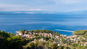 Mali Losinj sight from panoramic point. In Croatia Stock Image