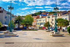 Mali Losinj square colorful architecture. Dalmatia, Croatia Stock Photos