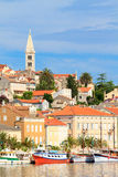 Mali Losinj waterfront and harbor, Island of Losinj, Dalmatia, C. Roatia Stock Photography