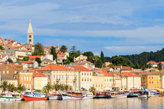 Mali Losinj waterfront and harbor, Island of Losinj, Dalmatia, C. Roatia Royalty Free Stock Photography