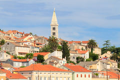 Mali Losinj waterfront and harbor, Island of Losinj, Dalmatia, C. Roatia Royalty Free Stock Photos