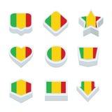 Mali markeert pictogrammen en de knoop plaatste negen stijlen Royalty-vrije Stock Afbeelding