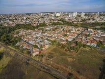 Mali miasta w Ameryka Południowa zdjęcia stock