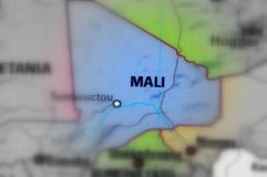 Republic of Mali. Mali, officially the Republic of Mali black and white selective focus Stock Images