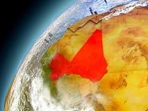 Mali from orbit of model Earth Stock Photos