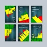 Mali Patriotic Cards per la festa nazionale Fotografia Stock