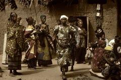 Mali, Peul p i Fulani, afryka zachodnia - Dogon wiosek borowinowi domy, Zdjęcie Stock