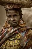 Mali, Peul p i Fulani, afryka zachodnia - Dogon wiosek borowinowi domy, Obrazy Royalty Free