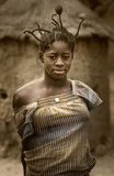 Mali, Peul p i Fulani, afryka zachodnia - Dogon wiosek borowinowi domy, Fotografia Stock
