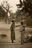 Mali, Peul p i Fulani, afryka zachodnia - Dogon wiosek borowinowi domy, Zdjęcia Royalty Free