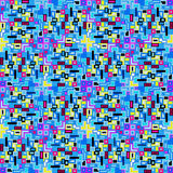 Mali piksle barwili geometrycznego tła bezszwową deseniową wektorową ilustrację Obraz Royalty Free