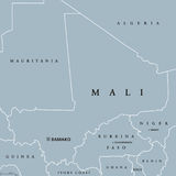Mali Political Map Photographie stock