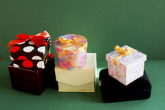 Mali prezentów pudełka Zdjęcie Stock