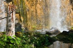 Mali prstavac waterfall. Waterfall in the Plitvice Lakes National Park, Croatia, Europe Royalty Free Stock Photo