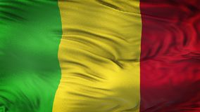 MALI Realistic Waving Flag Background Image stock