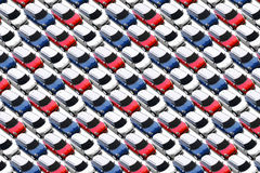 Mali samochody w nowym samochodowym udziale, MINI Zdjęcie Royalty Free