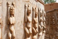 mali skulpterar trä Royaltyfri Bild