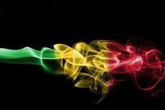 Mali smoke flag Royalty Free Stock Photo