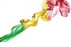 Mali smoke flag Stock Photos