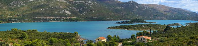 Mali Ston 08. Mali Ston, the beautiful bay near Dubrovnik, Croatia Stock Photo
