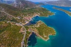 Mali Ston Dubrovnik skärgård Arkivbilder