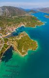 Mali Ston Dubrovnik skärgård Arkivbild