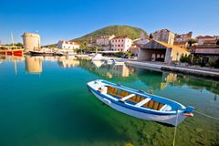 Mali Ston waterfront and historic landmarks view. Peljesac peninsula in Dalmatia region of Croatia Stock Photo
