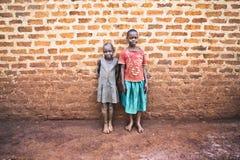 Mali ugandyjscy dzieci w Jinja zdjęcie royalty free