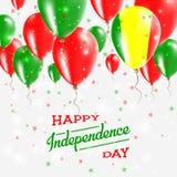 Mali Vector Patriotic Poster Fond de grunge de l'indépendance Day Photos stock