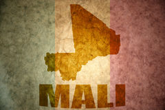 Mali vintage map Royalty Free Stock Photography