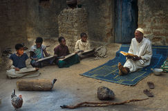 Mali, West Africa - January 25, 1992: Koranic School Stock Photos