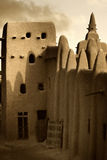 Mali, West Africa - Mosques built entirely of clay. Mali, West Africa, Djenne - impressive mosques built entirely of clay Royalty Free Stock Photography