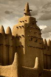 Mali, West Africa - Mosques built entirely of clay. Mali, West Africa, Djenne - impressive mosques built entirely of clay Royalty Free Stock Image