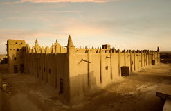 Mali, West Africa - Mosques built entirely of clay. Mali, West Africa, Djenne - impressive mosques built entirely of clay Royalty Free Stock Photos
