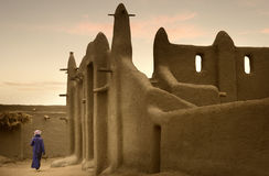 Mali, West Africa - Mosques built entirely of clay. Mali, West Africa, Djenne - impressive mosques built entirely of clay Royalty Free Stock Images