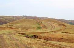 Mali wijący wzgórza, krajobraz Zdjęcia Stock