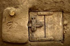 Mali, wioska i typowi borowinowi budynki, Afryka, Dogon - Zdjęcie Stock
