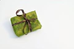 Mali zieleni prezentów pudełka Obrazy Stock