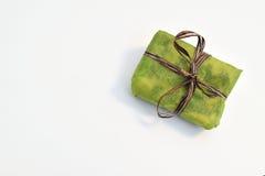 Mali zieleni prezentów pudełka Zdjęcie Stock