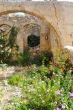 Malia的老部分的被破坏的房子 免版税库存照片