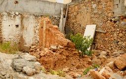 Malia的老部分的被破坏的房子 库存图片