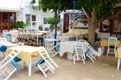 Malia的老部分的餐馆 图库摄影