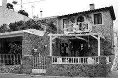Malia的老部分的餐馆 库存照片