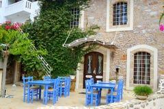 Malia的老部分的餐馆 免版税库存图片