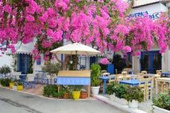 Malia的老部分的餐馆 免版税图库摄影