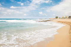 Malia beach, Crete, Greece Royalty Free Stock Photography