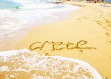 Malia beach, Crete, Greece Royalty Free Stock Images