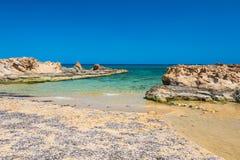 Malia beach, Crete island, Greece Royalty Free Stock Image
