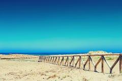 Malia beach, Crete island, Greece. Royalty Free Stock Photos